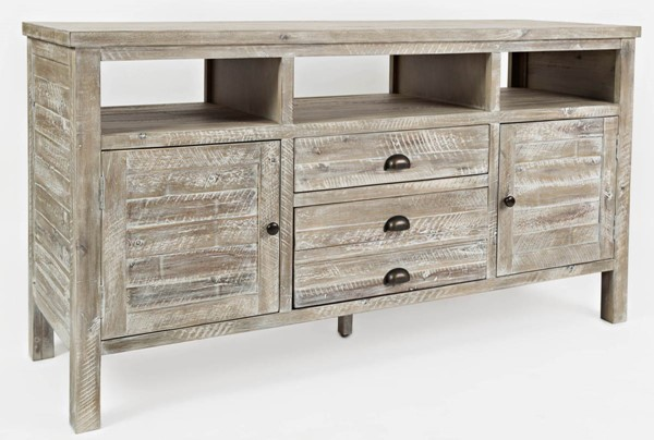 Jofran Furniture Artisans Craft Washed Grey 60 Inch Media Console Table JFN-1743-60