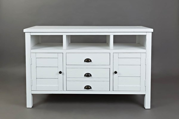 Jofran Furniture Artisans Craft Weathered White 50 Inch Media Console Table JFN-1744-50