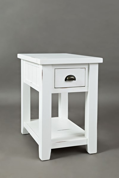 Jofran Furniture Artisans Craft Weathered White Chairside Table JFN-1744-7