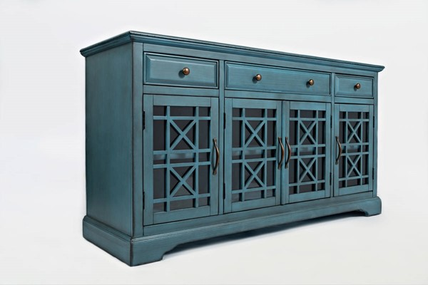 Jofran Furniture Craftsman Blue 60 Inch Media Unit JFN-175-60