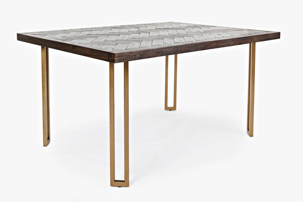 Jofran Furniture Gramercy Dark Chevron Dining Table JFN-1756-42