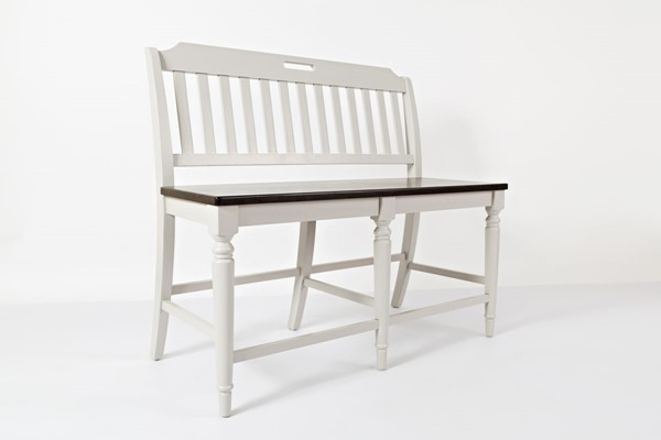Jofran Furniture Orchard Park Grey Counter Height Bench JFN-1771-BS48KD