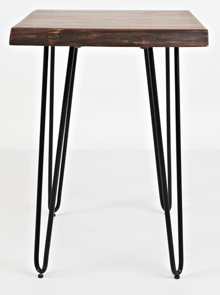 Jofran Furniture Natures Edge Light Chestnut Solid Acacia Chairside Table JFN-1780-7