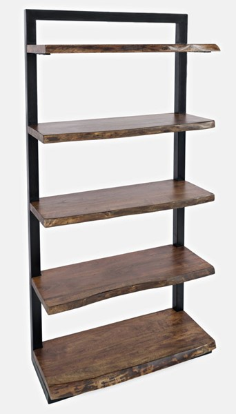 Jofran Furniture Natures Edge Light Chestnut 5 Shelf Bookcase JFN-1783-35