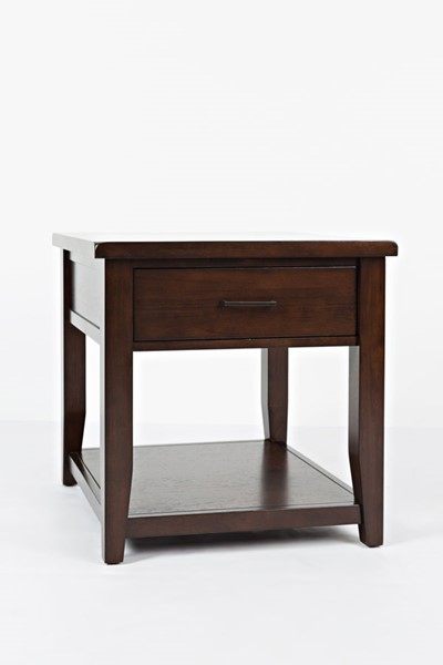 Jofran Furniture Twin Cities Charcoal Fabric End Table JFN-1790-3