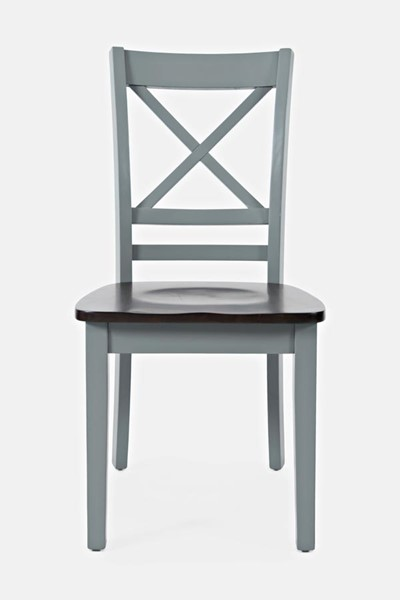 2 Jofran Furniture Asbury Park Grey Autumn X Back Chairs JFN-1815-373KD