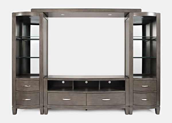 Jofran Furniture Scarsdale Grey Entertainment Wall with 60 Inch Media Chest JFN-1832-226078KT