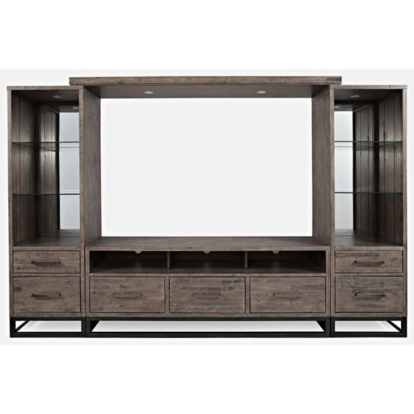 Jofran Furniture East Hampton Distressed Grey Entertainment Wall JFN-1862-227870KT