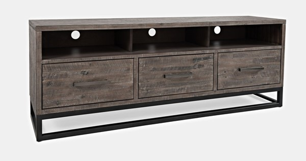 Jofran Furniture East Hampton Distressed Grey Media Unit JFN-1862-70
