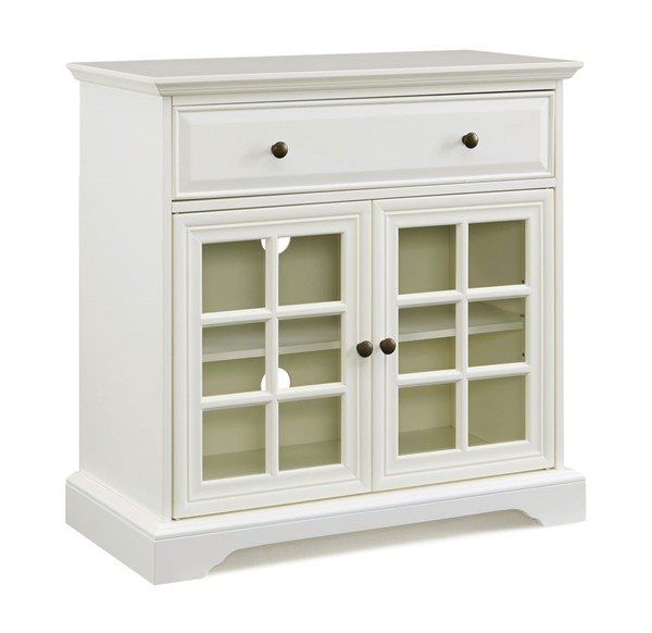 Jofran Furniture EZ Style White 32 Inch Window Pane 2 Door TV Stand JFN-1901EZ-32WH