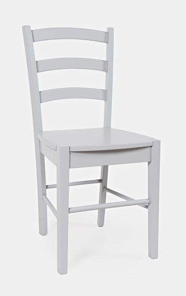2 Jofran Furniture EZ Style Grey Ladder Back Dining Chairs JFN-1906EZ-03GY