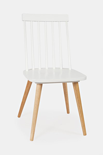 2 Jofran Furniture EZ Style White Spindle Dining Chairs JFN-1907EZ-01WH