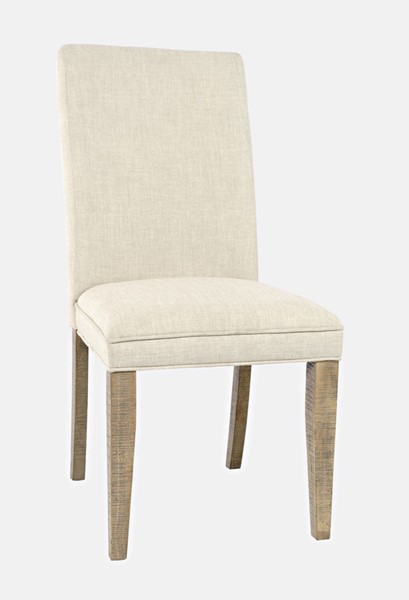 2 Jofran Furniture Carlyle Crossing Distressed Pine Upholstered Dining Chairs JFN-1921-405KD