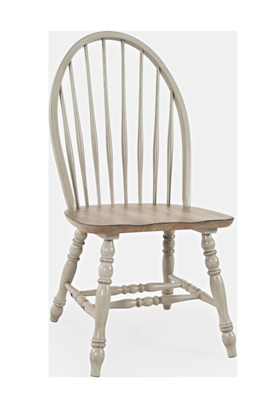 2 Jofran Furniture Westport Antique Grey Bowback Windsor Chairs JFN-1925-400KD