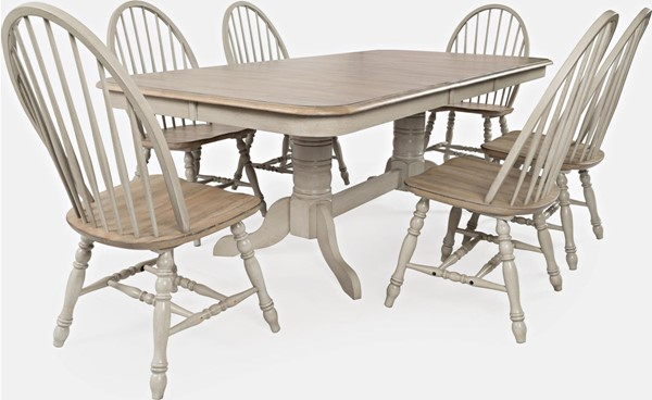 Jofran Furniture Westport Antique Grey 7pc Dining Room Set JFN-1925-DR-S1