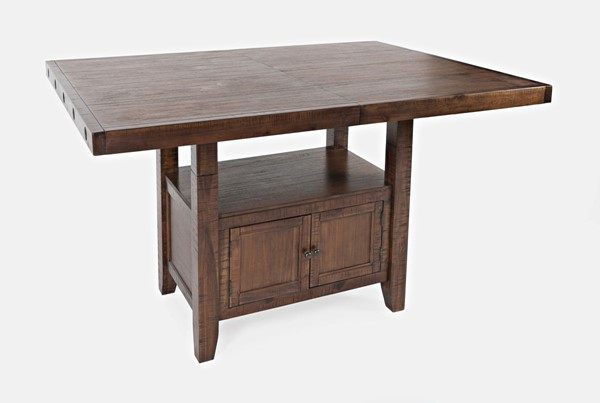 Jofran Furniture Mission Viejo Natural Brown High Low Storage Table JFN-1966-78TBKT