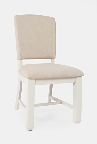 2 Jofran Furniture Dana Point White Upholstered Dining Chairs JFN-1968-240KD