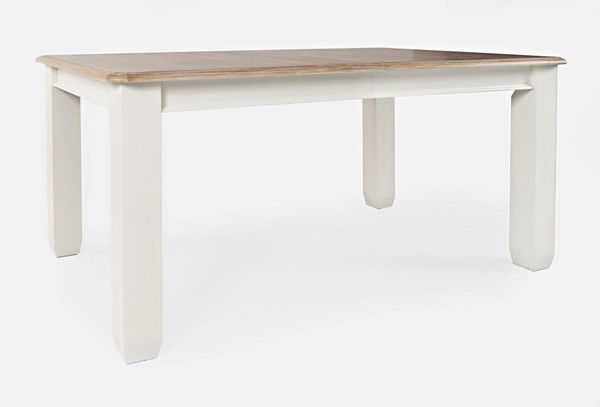 Jofran Furniture Dana Point White Natural Extension Dining Table JFN-1968-84