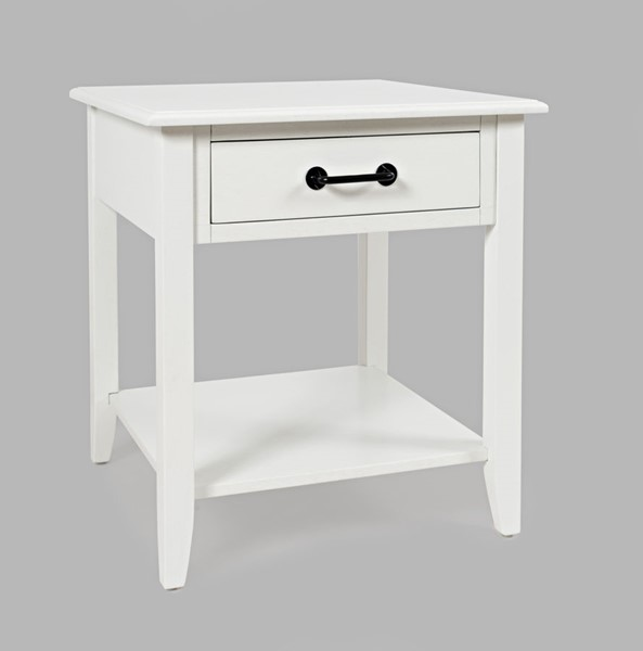 Jofran Furniture North Fork White Acacia End Table JFN-1976-3