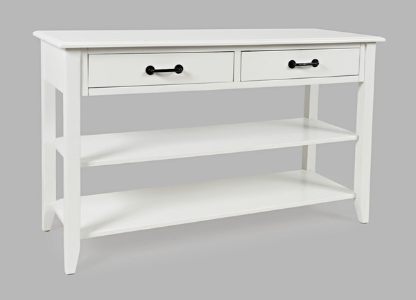 Jofran Furniture North Fork White Acacia 2 Drawer Sofa Console Table JFN-1976-4