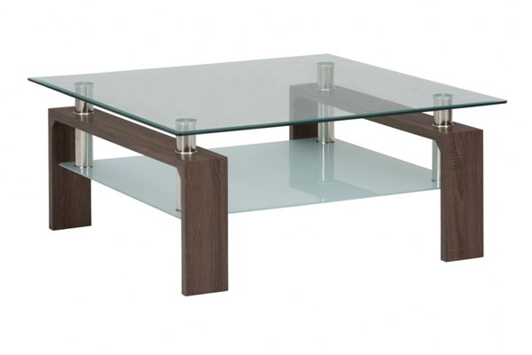 Jofran Furniture Compass Brown Square Cocktail Table JFN-198-2B2GKT