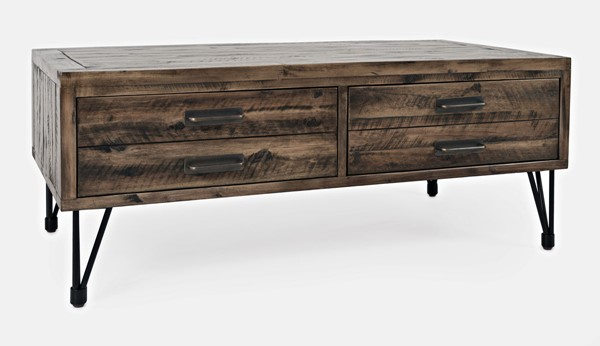 Jofran Furniture Blackstone Distressed Brown 2 Drawer Coffee Table JFN-1990-1