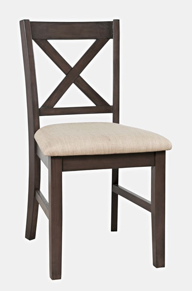 Jofran Furniture Hobson Grey X Back Chair JFN-2025-340GRKD