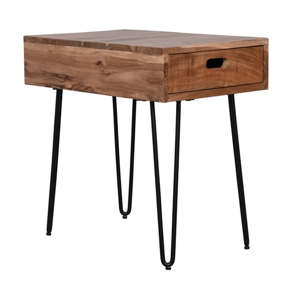 Jofran Furniture Rollins Natural Solid Acacia Side Table JFN-2085-7