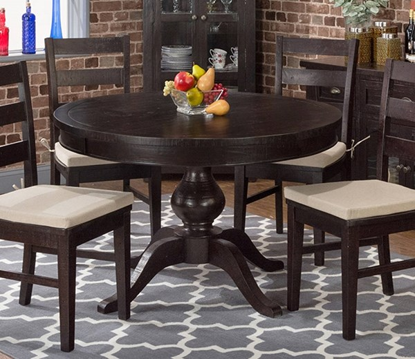 Prospect Creek Cottage Brown Reclaimed Pine Round To Oval Dining Top JFN-257-66T