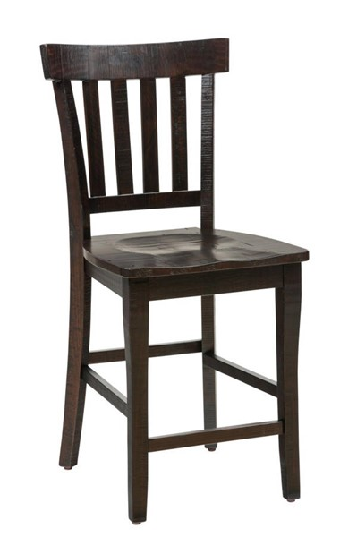 2 Prospect Creek Slatback Counter Height Stools (Cushion not Included) JFN-257-BS831KD