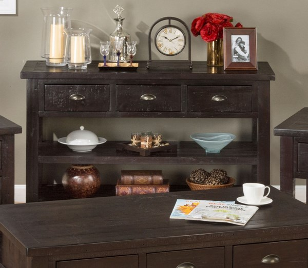 Prospect Creek Casual Lightly Distressed Wood Sofa Table JFN-258-4