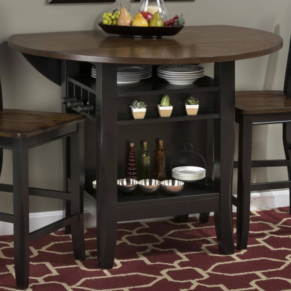 Braden Birch Casual Black / Brown 48 Inches Counter Height Table JFN-272-48