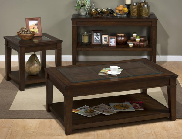 Lexington Casual Brown 3pc Coffee Table Set JFN-334-OCT-S