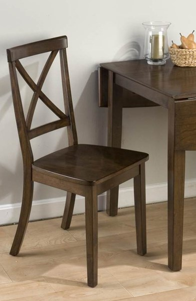 2 Taylor Contemporary Cherry Wood X Back Dining Chairs JFN-342-915KD