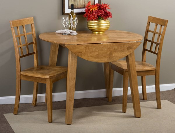 Simplycity Casual Honey Wood 3pc Dining Room Set JFN-352-28-939KD-DR-S