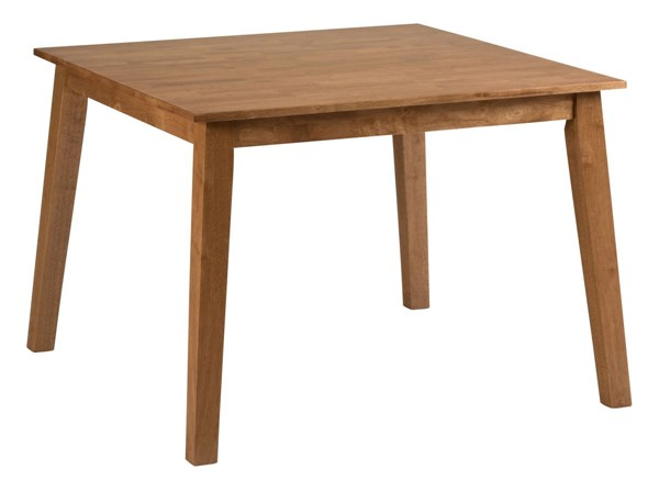 Simplicity Casual Honey Square Leg Fixed Top Dining Table JFN-352-42