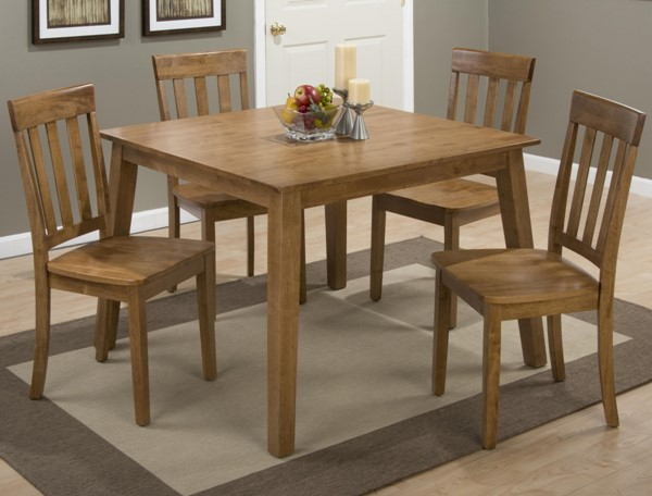 Simplicity Casual Honey 5pc Dining Room Set JFN-352-42-DR-S