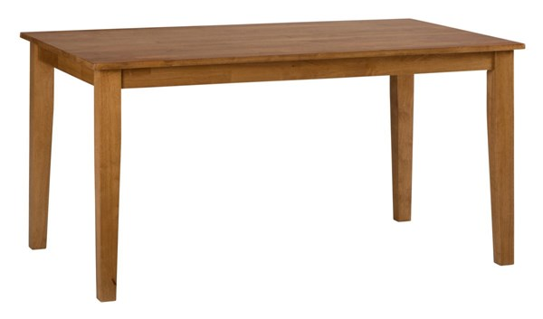 Simplicity Casual Honey Wood Rectangle Fix Top Dining Table JFN-352-60