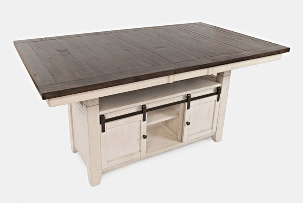 Jofran Furniture Madison County Vintage White High and Low Dining Table JFN-1706-72TBKT