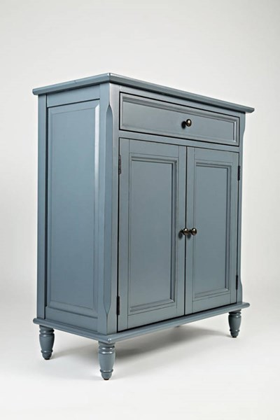 Avignon Cornflower Blue Wood Drawer & Two Doors Accent Cabinet JFN-39023A