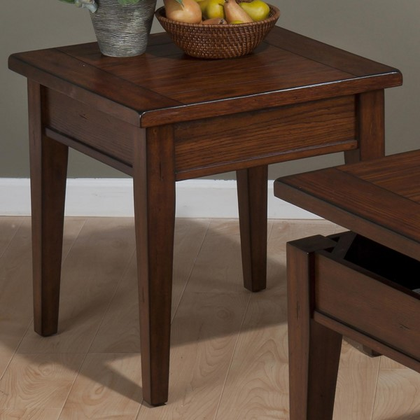 Dunbar Casual Oak Wood End Table ( L 23 x W 23 x H 23 ) JFN-411-3