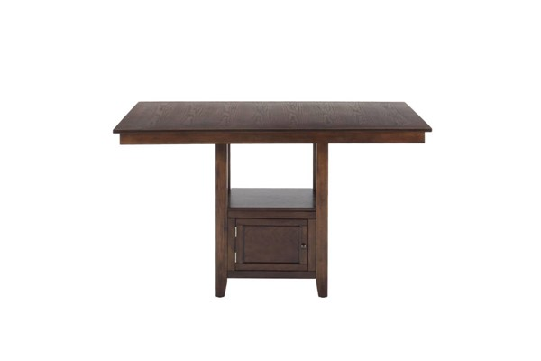 Olsen Casual Oak Wood Counter Height Rectangle Storage Table JFN-439-60