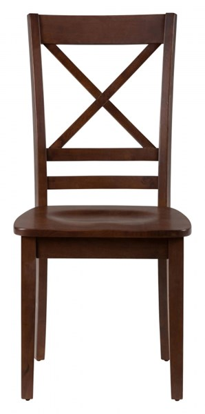2 Simplicity Casual Caramel X Back Side Chairs JFN-452-806KD