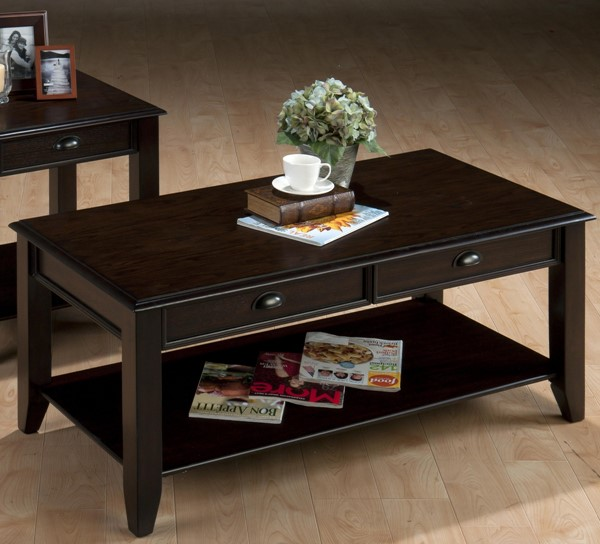 Bartley Casual Oak Wood 2 Drawers Cocktail Table JFN-459-1