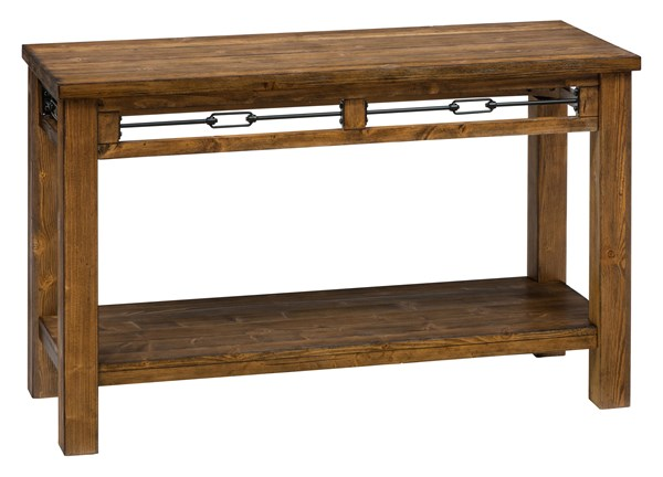 San Marcos Transitional Solid Wood Sofa Table w/Shelf JFN-463-4