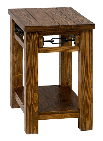 San Marcos Transitional Solid Wood Chairside Table w/Shelf JFN-463-7
