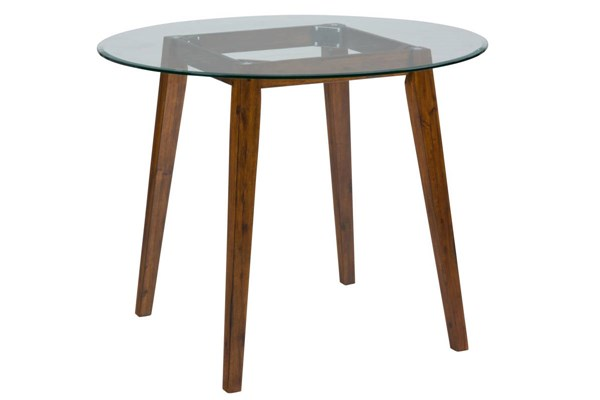 Plantation Casual Wood Base For Round Counter Height Glass Top Table JFN-505-50B