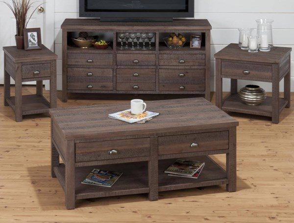 Falmouth Transitional Grey Wood Coffee Table Set JFN-535-OCT