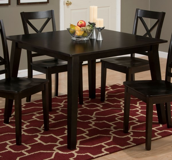 Espresso Wood Square Leg Fixed Top Dining Table JFN-552-42