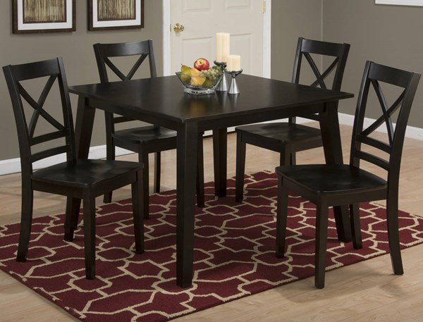 Espresso Wood Fixed Top 5pc Dining Room Set JFN-552-42-806KD-DR-S